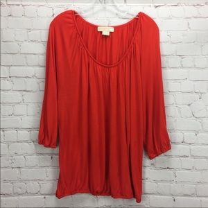 🌺 [MICHAEL KORS] Dolman Blouse Orange Size 3X Top